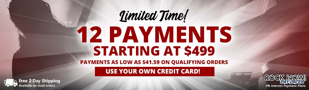 Limited Time | 12 Payments as low as $499 on qualifying orders!