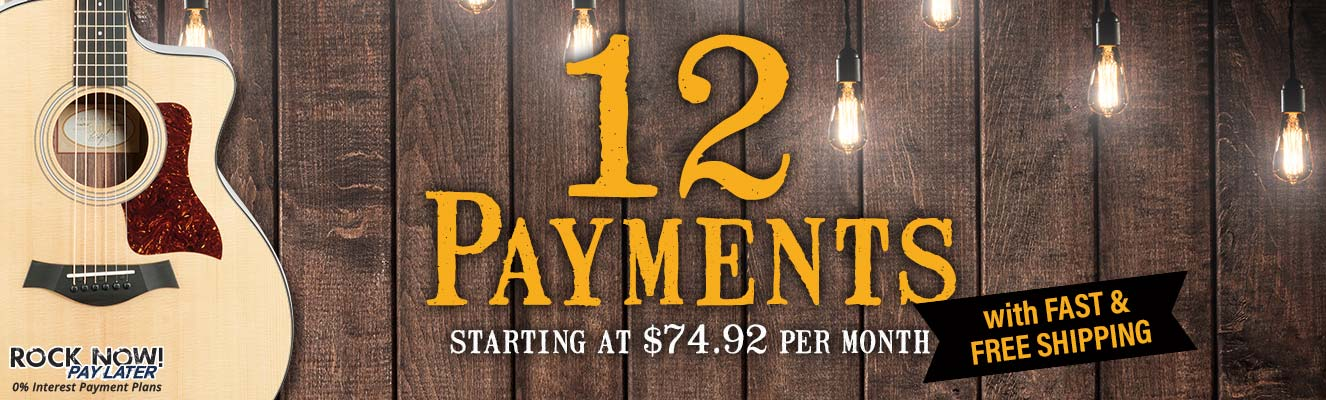 12 Payments with Fast & Free Shipping!