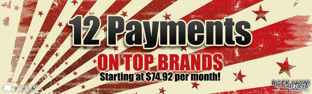 12 Payments on top brands!