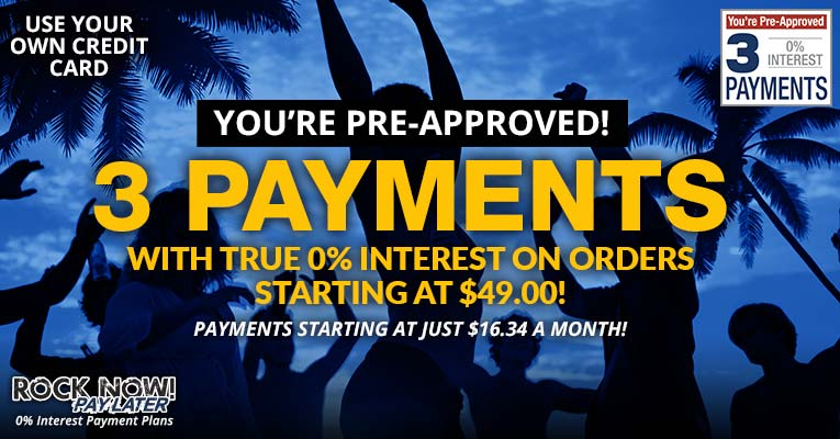 You're pre-approved for 3 payments!