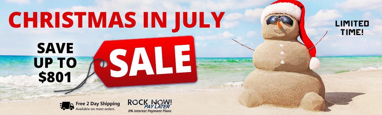 Christmas in July Sale! Save up to $801 for a limited time!