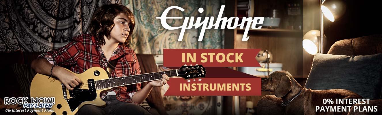In Stock Epiphone | 0% Interest Payment Plans