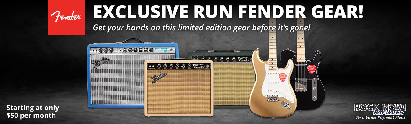 Exclusive Run Fender Gear!