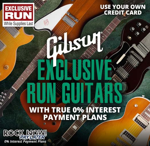 Exclusive Run Gibson Guitars with 0% interest payment plans!