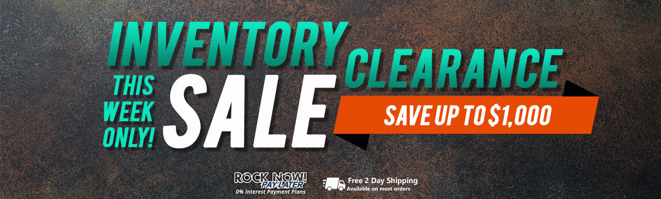 Inventory clearance sale! Save up to $1,000 this week only!