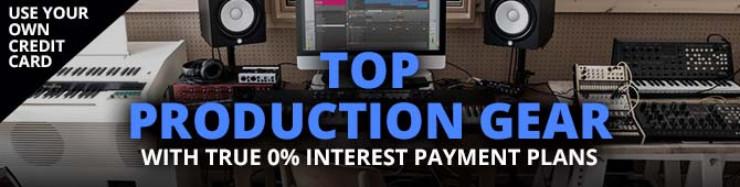 Production gear with true 0% interest payment plans