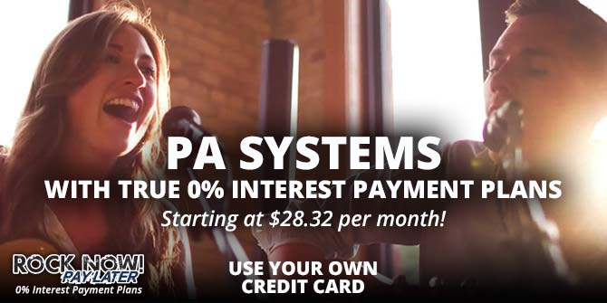 PA Systems with true 0% interest payment plans