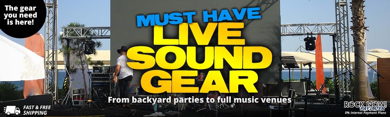 Must have live sound gear is here!