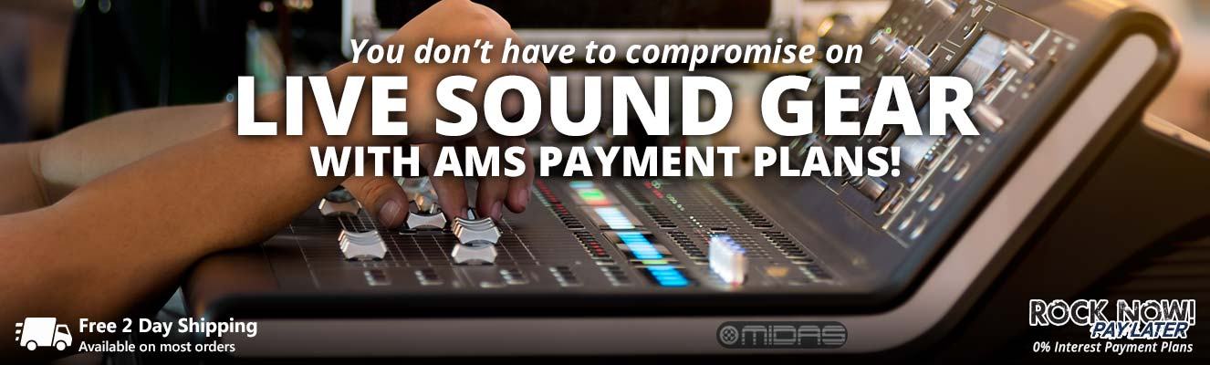 Don't compromise with your live sound gear!