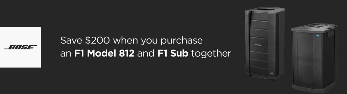 Save $200 when you purchase an F1 Model 812 and F1 Sub together