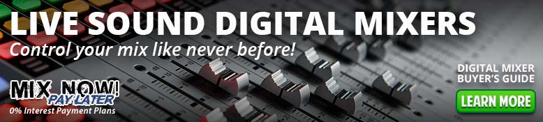 Live Sound Digital Mixers - Control your mix like never before!