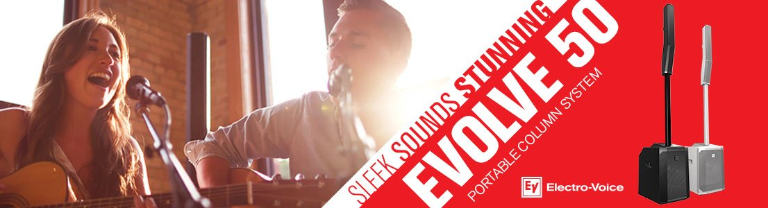 Evolve 50 Portable Column System - Sleek Sounds Stunning