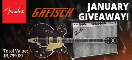 January Fender Gretsch Giveaway