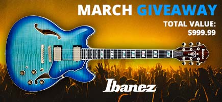 March Ibanez Giveaway