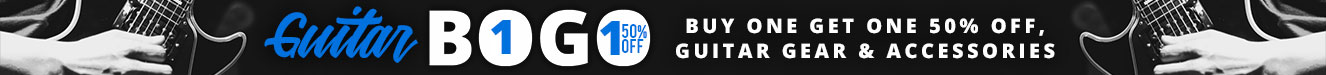 Buy one get one 50% off Guitar Gear