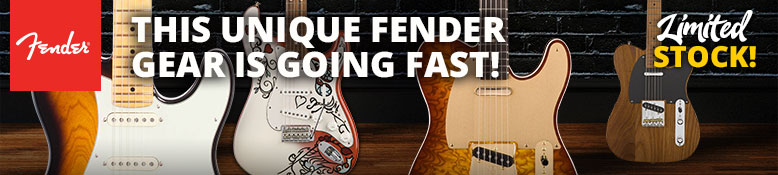 Limited Stock! These unique Fender guitars and basses are going fast!