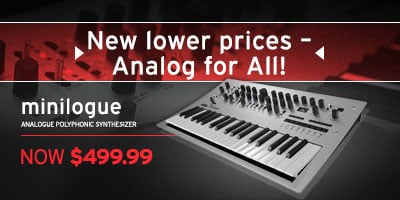 New lower prices on minilogue synthesizer