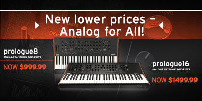 New lower prices on prologue synthesizers