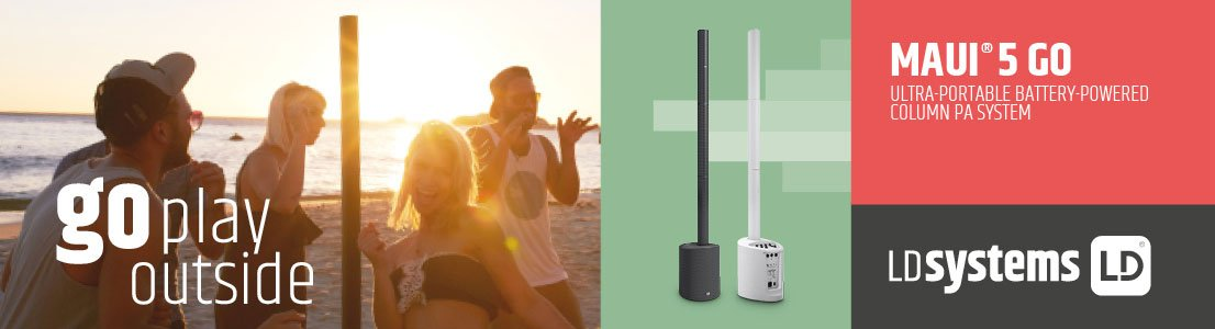 Maui 5 GO - Ultra-Portable Battery-Powered Column PA System