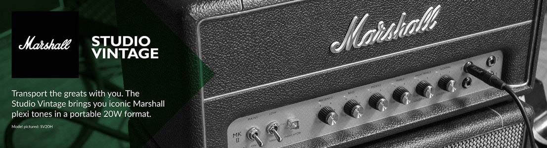 Studio Vintage - Iconic Marshall plexi tones in a portable 20W format.