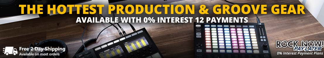 The hottest production gear available with 12 payments