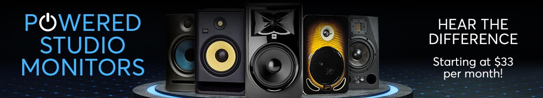 Powered Studio Monitors | Payments starting at $33!