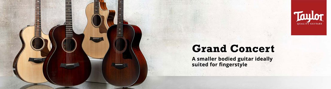 Grand Concert - A smaller bodied guitar ideally suited for fingerstyle