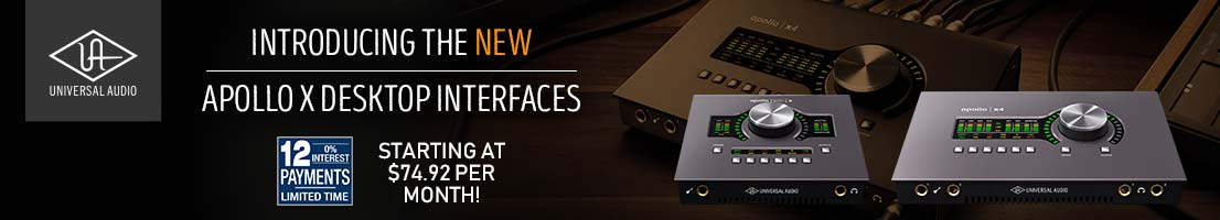 The new Universal Audio Apollo X desktop interfaces!