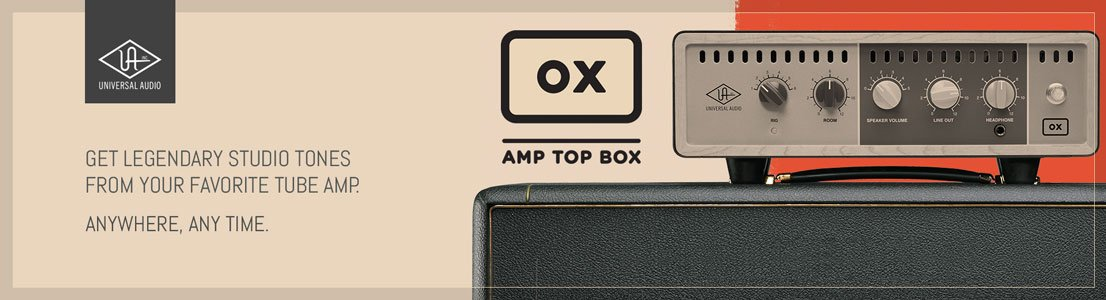 Get Legendary Studio Tones From Your Favorite Tube Amp. ox amp top box