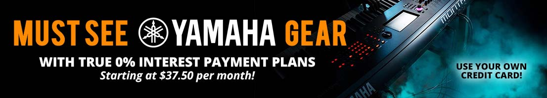 Must see Yamaha gear with 0% interest payment plans!