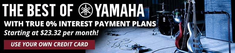 The best of Yamaha available with true 0% interest payment plans